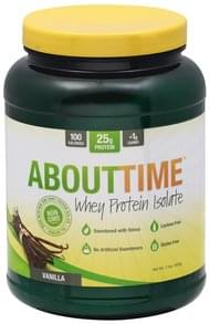 AboutTime Whey Protein Isolate Vanilla