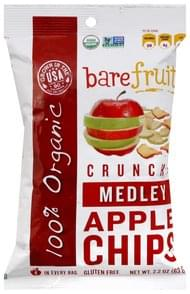 Bare Fruit Apple Chips Crunchy, Medley