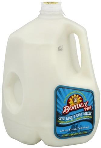Borden Lite Line, Skim Milk - 1 gl