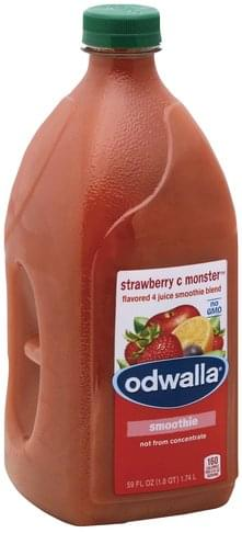 Odwalla Flavored 4 Juice, Strawberry C Monster Smoothie Blend - 59 oz