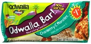 Odwalla Nourishing Food Bar Cranberry C Monster