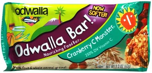 Odwalla Cranberry C Monster Nourishing Food Bar - 2.2 oz