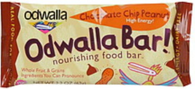 Odwalla Nourishing Food Bar Chocolate Chip Peanut