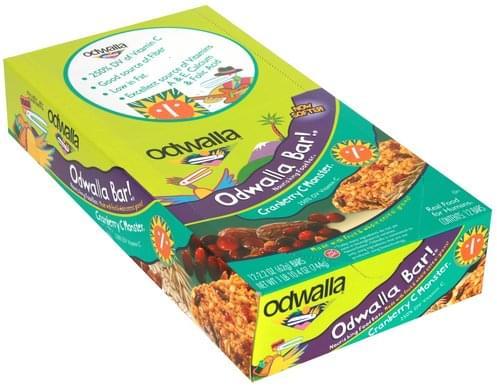 Odwalla Cranberry C Monster Nourishing Food Bar - 12 ea