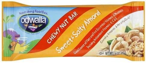 Odwalla Chewy Nut Bar, Sweet & Salty Almond Nourishing Food Bar - 1.6 oz
