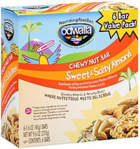 Odwalla Sweet & Salty Almond Chewy Nut Bar - 9.6 oz