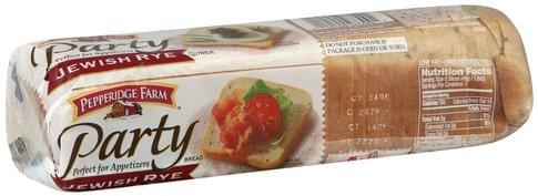 Pepperidge Farm Jewish Rye Bread 12 Oz Nutrition Information Innit