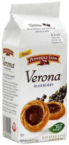 Pepperidge Farm Verona Blueberry Distinctive Cookies 6 75 Oz Nutrition Information Innit