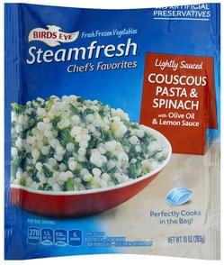Birds Eye Couscous Pasta & Spinach Lightly Sauced