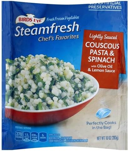 Birds Eye Lightly Sauced Couscous Pasta & Spinach - 10 oz