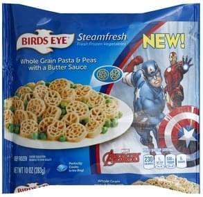 Birds Eye Whole Grain Pasta & Peas with a Butter Sauce Marvel Avengers