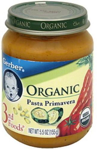 Gerber Organic Pasta Primavera - 5.5 oz