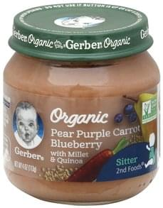 Gerber Pear Purple Carrot Blueberry Organic