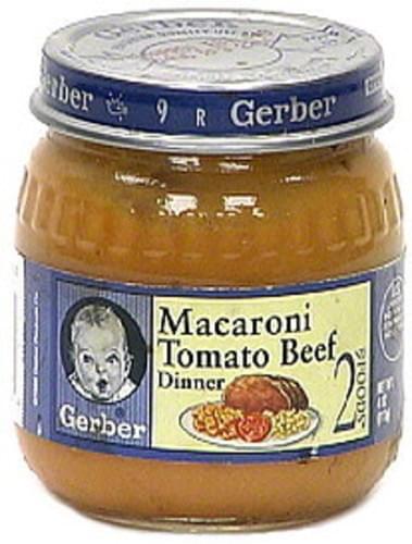 Gerber Macaroni Tomato Beef Dinner - 4 oz