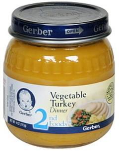 Gerber Dinner Vegetable Turkey