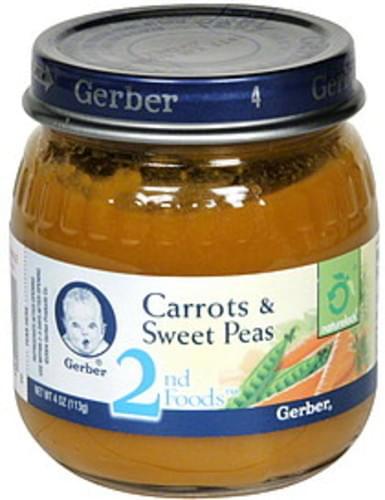 Gerber Carrots & Sweet Peas - 4 oz