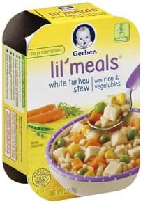 Gerber Lil' Meals White Turkey Stew, with Rice & Vegetables, Toddler