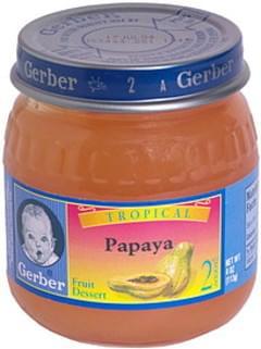 Gerber Fruit Dessert Tropical Papaya