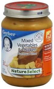 Gerber Nutritious Dinner Mixed Vegetables & Chicken