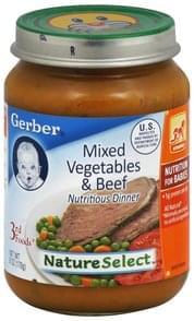 Gerber Nutritious Dinner Mixed Vegetables & Beef