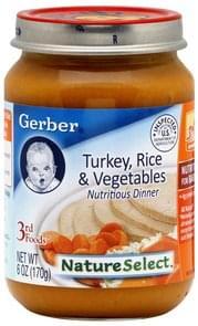 Gerber Nutritious Dinner Turkey, Rice & Vegetables