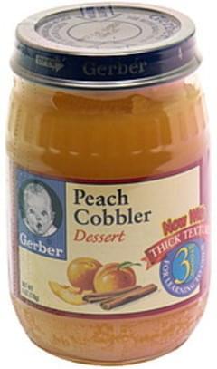 Gerber Dessert Peach Cobbler