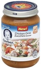 Gerber Dinner Chicken Orzo Zucchini
