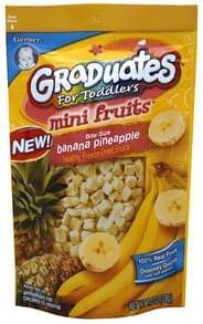Gerber Mini Fruits For Toddlers, Bite-Size, Banana Pineapple