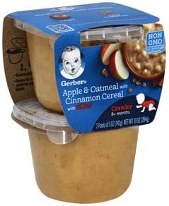 Gerber Apple & Oatmeal with Cinnamon Cereal, with Lil' Bits, 8+ Months