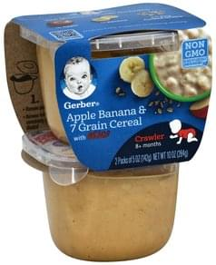 Gerber Apple Banana & 7 Grain Cereal with Lil' Bits, 8+ Months