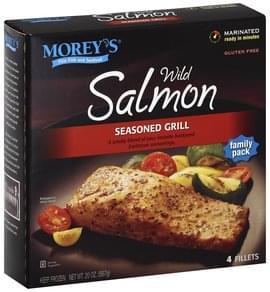 Moreys Salmon Wild, Seasoned Grill, Family Pack