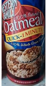 Western Family Instant Oatmeal Whole Grain
