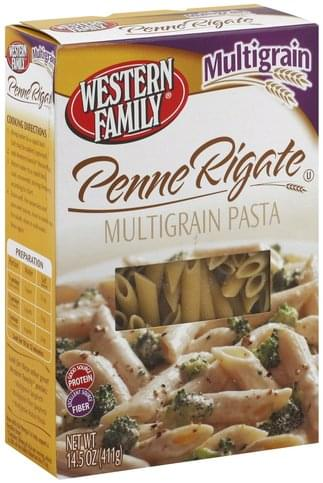 Western Family Multigrain Penne Rigate - 14.5 oz