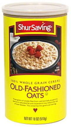 Shurfresh 100% Whole Grain Cereal Quick-Cooking Oats