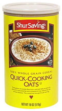 Shurfresh 100% Whole Grain Cereal Old-Fashioned Oats