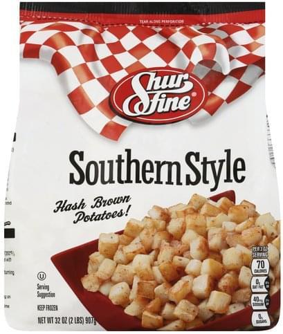 Shurfine Southern Style Hash Brown Potatoes! - 32 oz