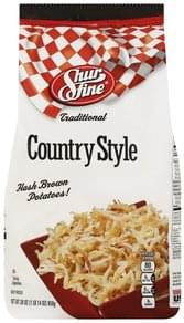 Shurfine Hash Brown Potatoes! Traditional, Country Style