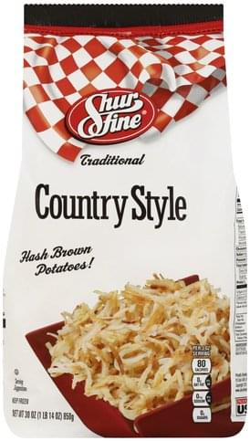 Shurfine Traditional, Country Style Hash Brown Potatoes! - 30 oz