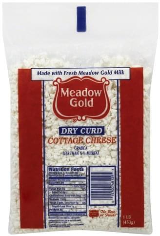 Meadow Gold Dry Curd, Less than 1/2% Milkfat Cottage Cheese - 1 lb
