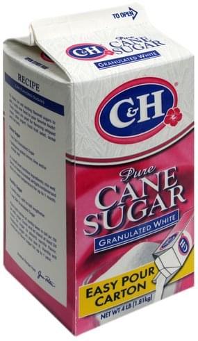 C & H Granulated White Pure Cane Sugar - 4 lb, Nutrition ...
