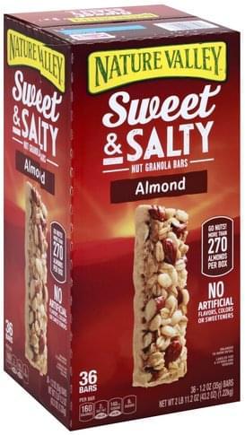 Salty, Almond Nut Granola Bars