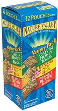 Nature Valley Granola Bars Crunchy Granola Bars, Variety Pack