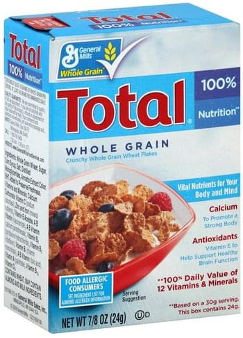 Total Whole Grain Cereal - 0.875 oz