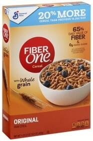FIBER ONE Bran Cereal with Whole Grain, Original