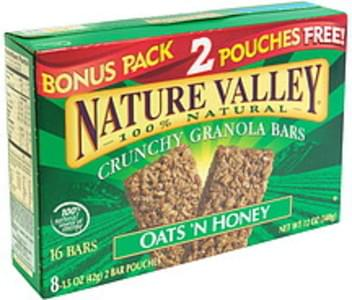 Nature Valley Crunchy Granola Bars Oats & Honey, Bonus