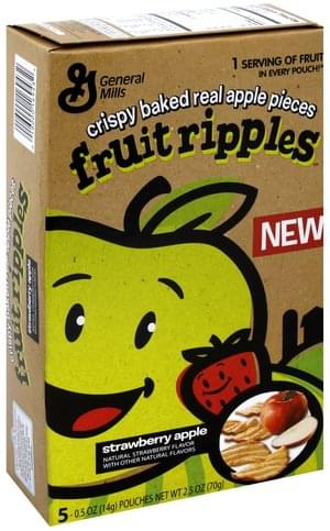 Fruit Ripples Strawberry Apple Fruit Ripples - 5 ea