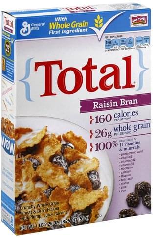 Total Raisin Bran Cereal - 18.25 oz