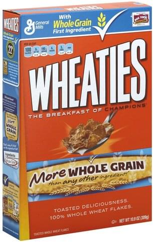 Wheaties Cereal - 10.9 oz, Nutrition