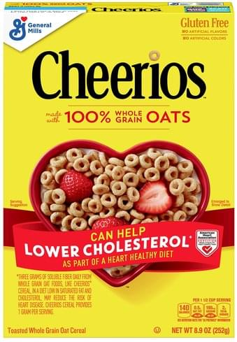 Cheerios Gluten Free, Whole Grain Oat, Toasted Cereal - 8.9 oz