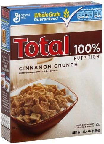 Total Cinnamon Crunch Cereal - 15.4 oz